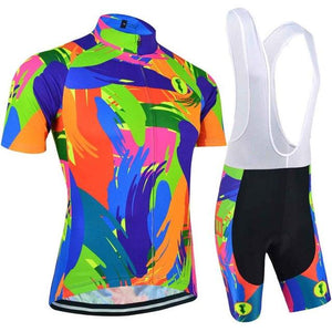 Trendy Cycling Women's JERSEY AND WHITE BIB / XXL / Fluo FLUO - WOMEN'S SHORT SLEEVE JERSEY SET
