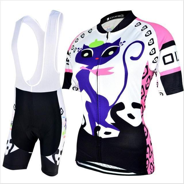 Trendy Cycling Women's JERSEY AND PANTS / XXL / White KITTEN - WOMEN'S SHORT SLEEVE JERSEY SET