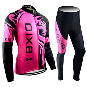 Trendy Cycling Women's JERSEY & PANTS / XXL / DeepPink DRAGON - WOMEN'S THERMAL JERSEY SET
