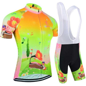 Trendy Cycling Women's JERSEY & WHITE BIB / XXL / Lime HILL TOP - WOMEN'S SHORT SLEEVE JERSEY SET