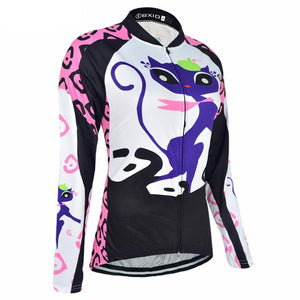 Trendy Cycling Women's Kitten - Women's Long Sleeve Jersey