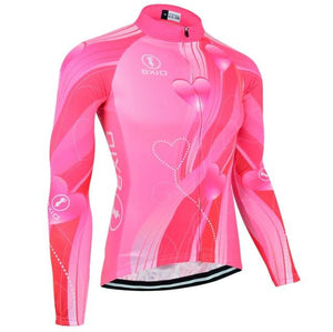 Trendy Cycling Women's LightPink / XXL ROSE TWIST - WOMEN'S LONG SLEEVE JERSEY