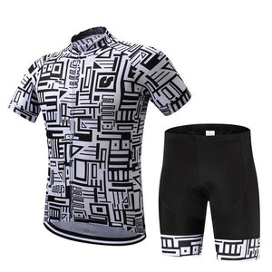 TrendyCycling Jersey and pants / XS / Black Framework - Men's Short Sleeve Jersey Set