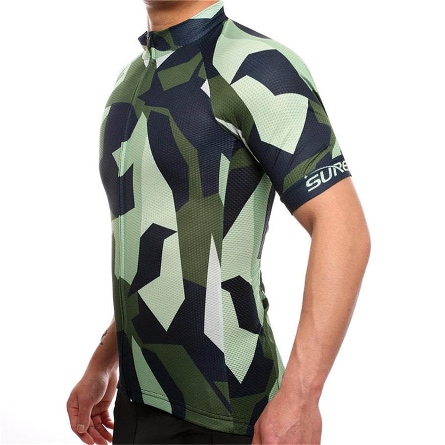 TrendyCycling Men's Army Camo - Men's Short Sleeve Jersey