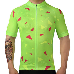 TrendyCycling Men's Ascent Lime - Men's Short Sleeve Jersey