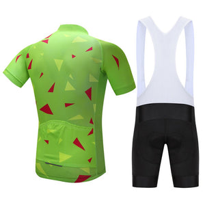 TrendyCycling Men's Ascent Lime - Men's Short Sleeve Jersey Set