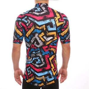 TrendyCycling Men's Color Daze - Men's Short Sleeve Jersey