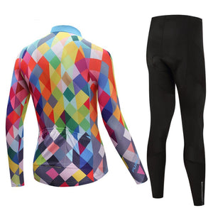TrendyCycling Men's Color Diamond - Men's Long Sleeve Jersey Set