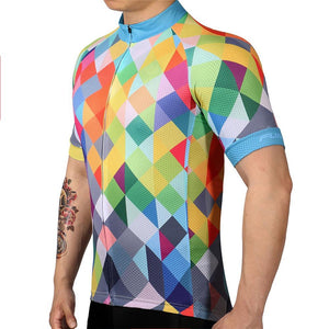 TrendyCycling Men's Color Diamond - Men's Short Sleeve Jersey