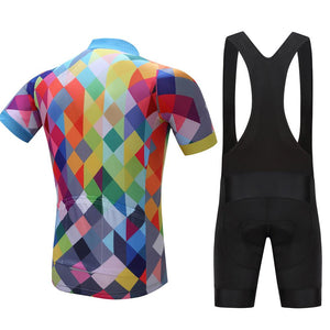 TrendyCycling Men's Color Diamond - Men's Short Sleeve Jersey Set