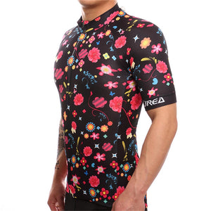 TrendyCycling Men's Comic Flower - Men's Short Sleeve Jersey Set