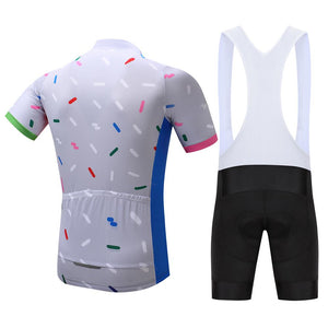 TrendyCycling Men's Confetti - Men's Short Sleeve Jersey Set