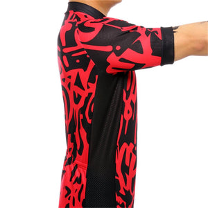 TrendyCycling Men's Graffiti - Men's Short Sleeve Jersey