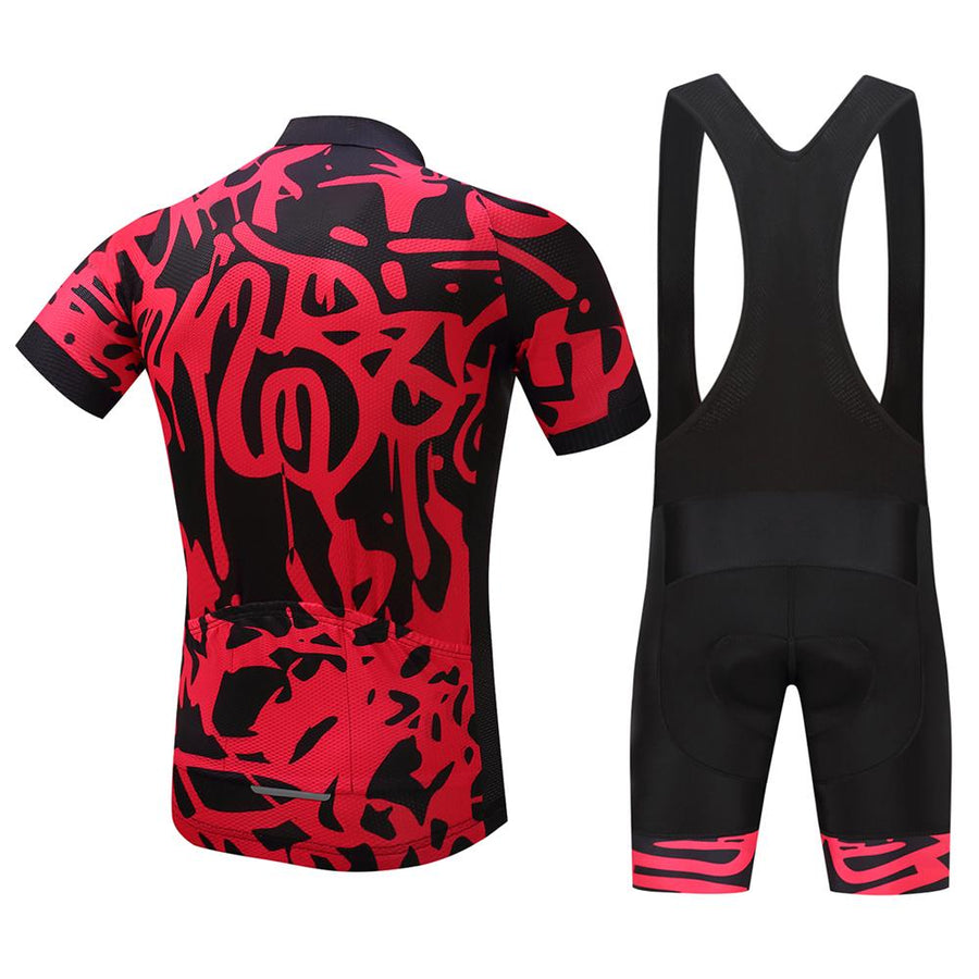 TrendyCycling Men's Graffiti - Men's Short Sleeve Jersey Set