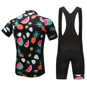 TrendyCycling Men's Hawaiian Fruit - Men's Short Sleeve Jersey Set