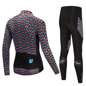 TrendyCycling Men's Horizon - Men's Thermal Jersey Set