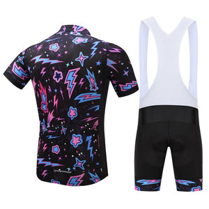 TrendyCycling Men's Illumination Burst - Men's Short Sleeve Jersey Set