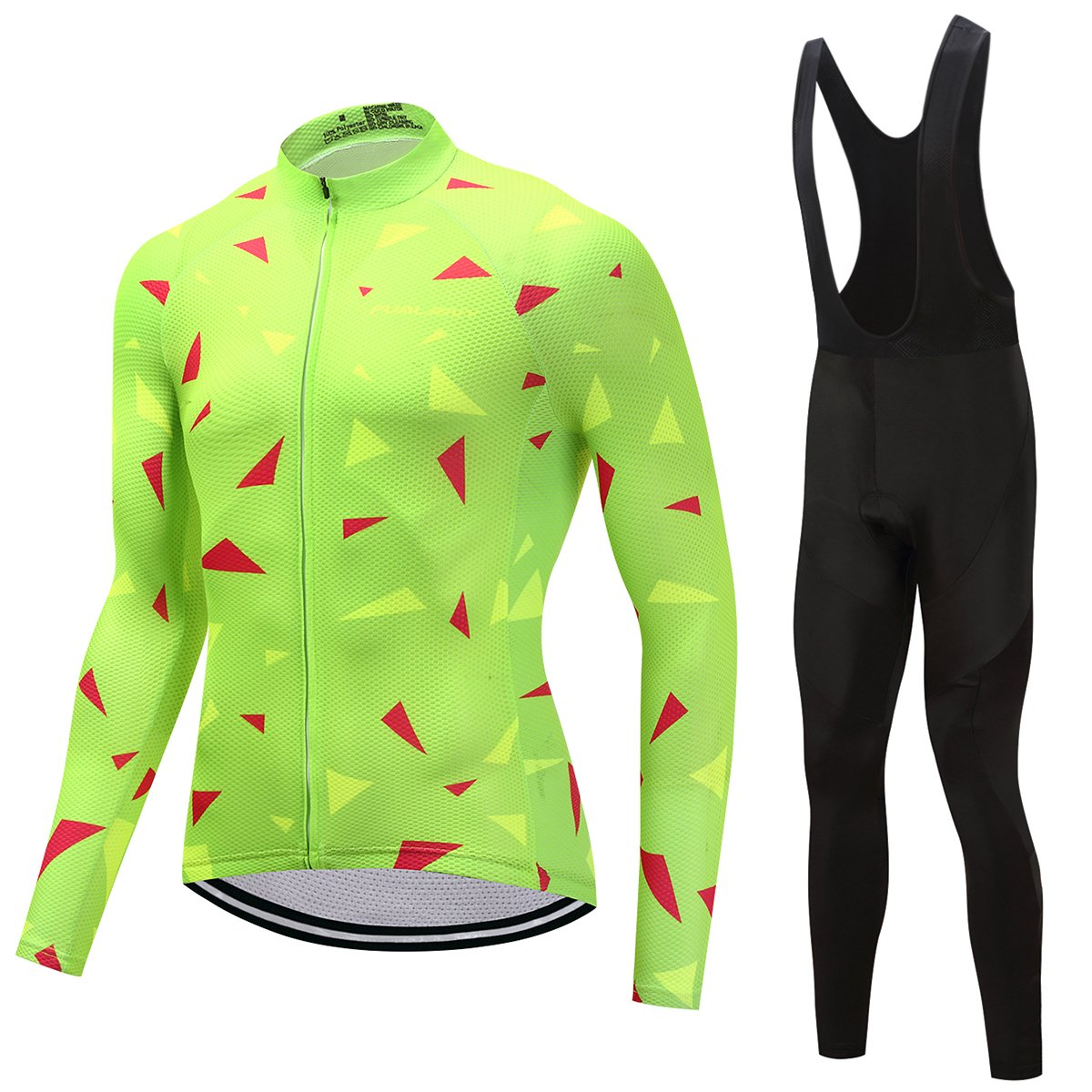f1cfa47a5 TrendyCycling Men s Jersey and black bib   4XL   Lime Ascent Lime - Men s  Long Sleeve