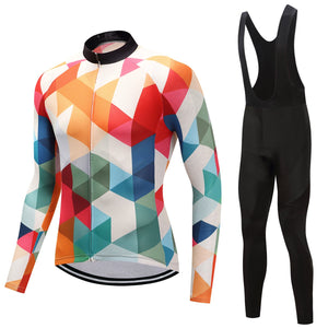 TrendyCycling Men's Jersey and black bib / 4XL / White Jewel - Men's Thermal Jersey Set