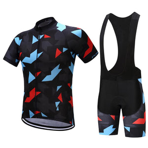 TrendyCycling Men's Jersey and black bib / S / Black Onyx Jewel - Men's Short Sleeve Jersey Set