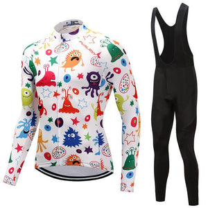 TrendyCycling Men's Anime - Men's Thermal Jersey Set