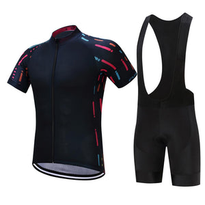TrendyCycling Men's Jersey and black bib / XS / Black Ropa - Men's Short Sleeve Jersey Set