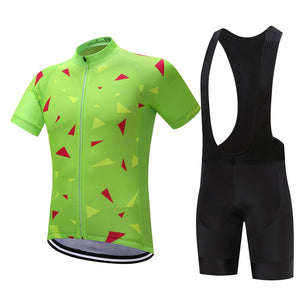 TrendyCycling Men's Jersey and black bib / XS / Lime Ascent Lime - Men's Short Sleeve Jersey Set