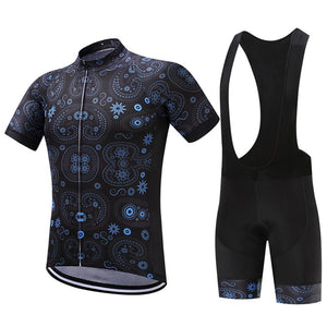 TrendyCycling Men's Jersey and black bib / XS / MidnightBlue Equilibrium - Men's Short Sleeve Jersey Set