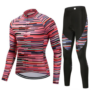 TrendyCycling Men's Jersey and pants / 4XL / PaleVioletRed Rose Division - Men's Thermal Jersey Set
