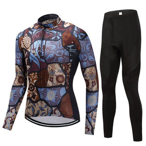 TrendyCycling Men's Jersey and pants / 4XL / SaddleBrown Vintage - Men's Long Sleeve Jersey Set