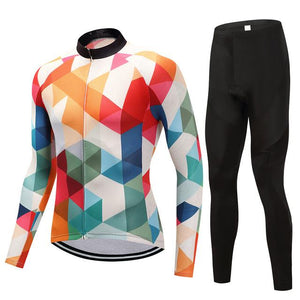 TrendyCycling Men's Jersey and pants / 4XL / White Jewel - Men's Long Sleeve Jersey Set