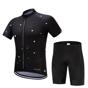 TrendyCycling Men's Jersey and pants / S / Black Moons - Men's Short Sleeve Jersey Set