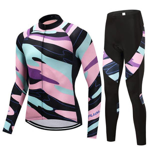 TrendyCycling Men's Jersey and pants / S / LightPink Element - Men's Long Sleeve Jersey Set