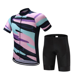 TrendyCycling Men's Jersey and pants / S / LightPink Element - Men's Short Sleeve Jersey Set
