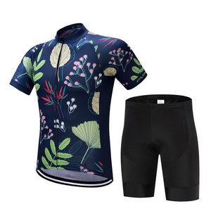 TrendyCycling Men's Jersey and pants / S / Navy Seeding - Men's Short Sleeve Jersey Set