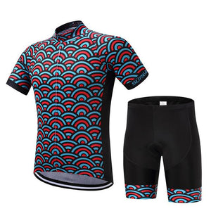 TrendyCycling Men's Jersey and pants / S / SkyBlue Horizon - Men's Short Sleeve Jersey Set