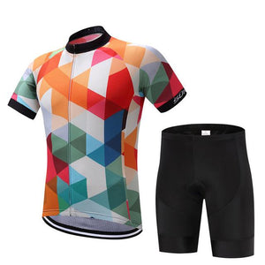TrendyCycling Men's Jersey and pants / S / White Jewel - Men's Short Sleeve Jersey Set