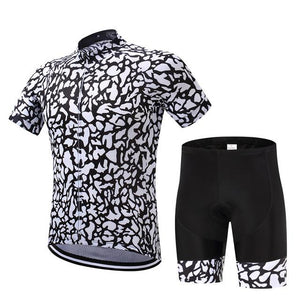 TrendyCycling Men's Jersey and pants / S / White Patched - Men's Short Sleeve Jersey Set
