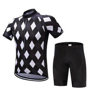 TrendyCycling Men's Jersey and pants / XS / Black Solitaire - Men's Short Sleeve Jersey Set