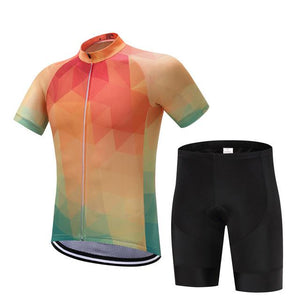 TrendyCycling Men's Jersey and pants / XS / Coral Summertime - Men's Short Sleeve Jersey Set