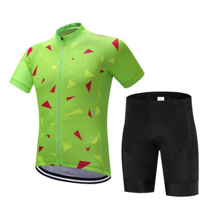 TrendyCycling Men's Jersey and pants / XS / Lime Ascent Lime - Men's Short Sleeve Jersey Set