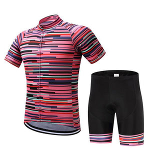 TrendyCycling Men's Jersey and pants / XS / PaleVioletRed Rose Division - Men's Short Sleeve Jersey Set
