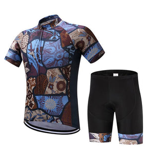 TrendyCycling Men's Jersey and pants / XS / SaddleBrown Vintage - Men's Short Sleeve Jersey Set