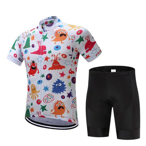 TrendyCycling Men's Jersey and pants / XS / White Anime - Men's Short Sleeve Jersey Set