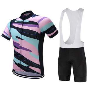 TrendyCycling Men's Jersey and white bib / S / LightPink Element - Men's Short Sleeve Jersey Set