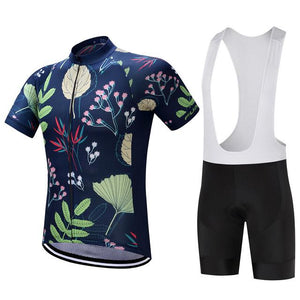 TrendyCycling Men's Jersey and white bib / S / Navy Seeding - Men's Short Sleeve Jersey Set