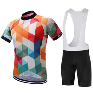 TrendyCycling Men's Jersey and white bib / S / White Jewel - Men's Short Sleeve Jersey Set