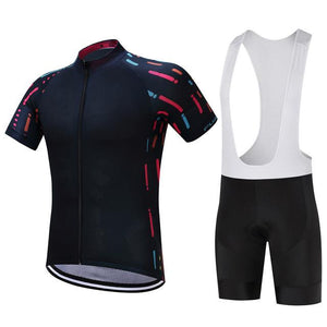 TrendyCycling Men's Jersey and white bib / XS / Black Ropa - Men's Short Sleeve Jersey Set