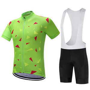 TrendyCycling Men's Jersey and white bib / XS / Lime Ascent Lime - Men's Short Sleeve Jersey Set