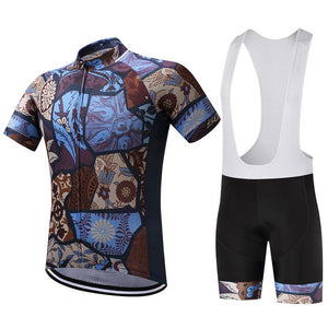 TrendyCycling Men's Jersey and white bib / XS / SaddleBrown Vintage - Men's Short Sleeve Jersey Set